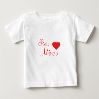 Valentines-Be-Mine-with Red Heart Baby T-Shirt