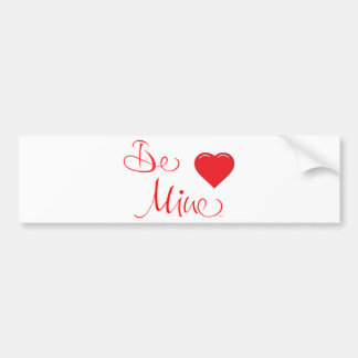 Valentines-Be-Mine-with Red Heart Bumper Sticker
