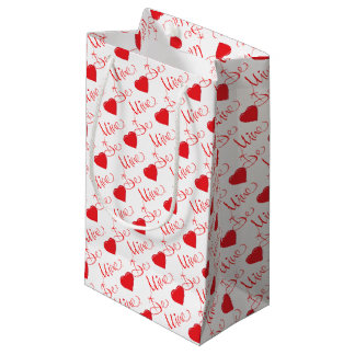 Valentines-Be-Mine-with Red Heart Small Gift Bag