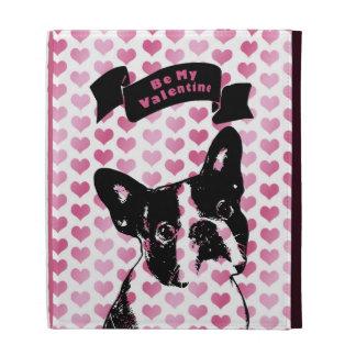 Valentines - Boston Terrier Silhouette iPad Cases