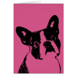 Valentines - Boston Terrier Silhouette Greeting Card