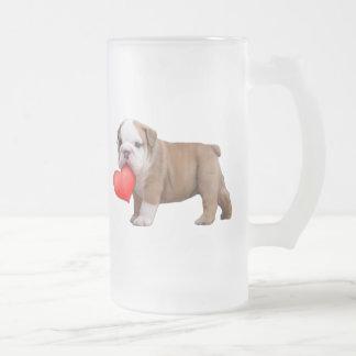 Valentine's bulldog puppy mug