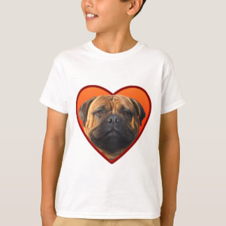 Valentine's bullmastiff tee shirt