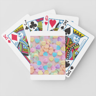 valentines candy hearts bicycle playing cards