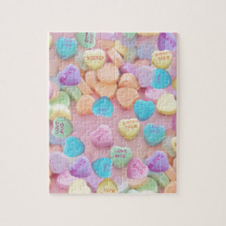 valentines candy hearts jigsaw puzzle