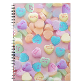 valentines candy hearts notebook