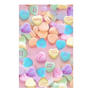 valentines candy hearts stationery