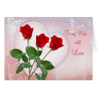 Valentines Day Wife Greeting Cards  Zazzlecomau
