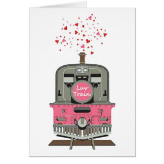 Valentine's Card - Luv Train