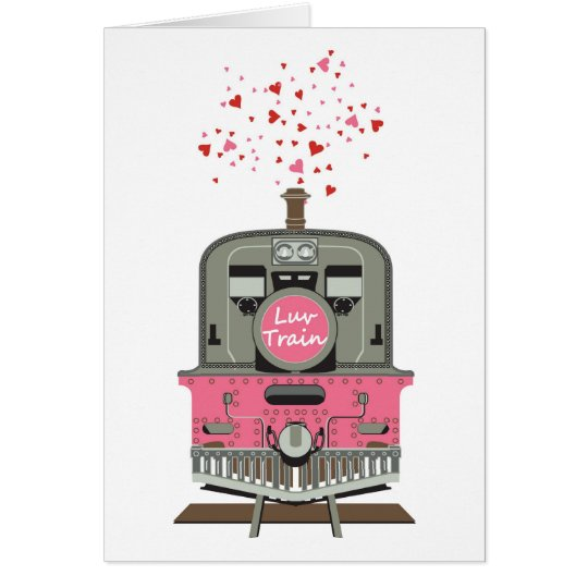 Valentine's Card - Luv Train