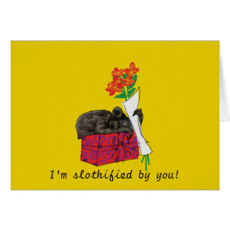 Valentine's Card with a Slothified Sloth