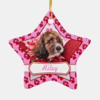 Valentines - Cockapoo - Riley Christmas Tree Ornament