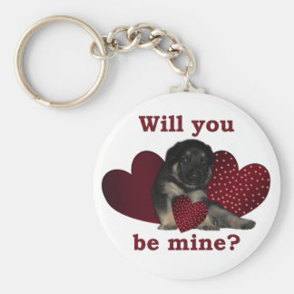 Valentines Collection Basic Round Button Key Ring