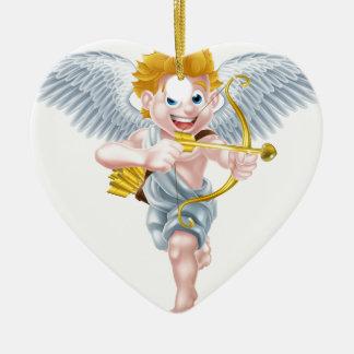 Valentines Cupid Angel Ceramic Heart Decoration