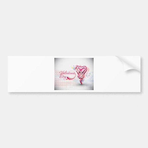 Valentines day 3 bumper sticker