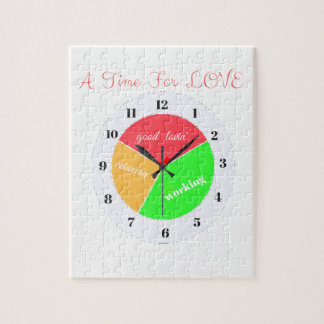 VALENTINES DAY  A TIME FOR LOVE  T-SHIRT JIGSAW PUZZLE