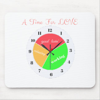 VALENTINES DAY  A TIME FOR LOVE  T-SHIRT MOUSE PAD