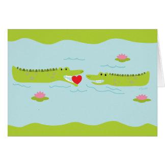 Valentine's Day Alligator Love Card