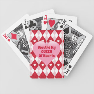 Valentine's Day Argyle Bicycle Playing Cards