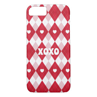 Valentine's Day Argyle iPhone 8/7 Case