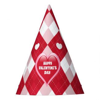 Valentine's Day Argyle Party Hat