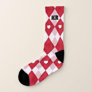 Valentine's Day Argyle Socks