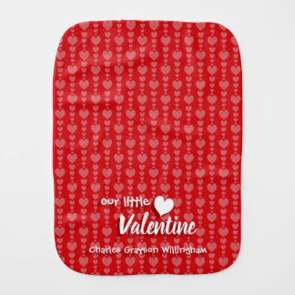 Valentine's Day Baby Burp Cloth Red & Pink Hearts