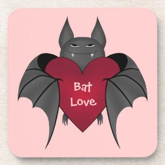 Valentine's Day bat love Drink Coaster
