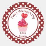 "Valentine's Day ""Be Mine"" Cupcake Stickers"