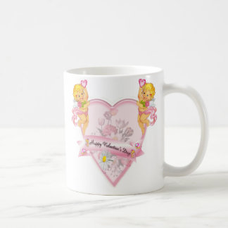 Valentine's Day Beautiful Poem Angels and Heart Coffee Mug