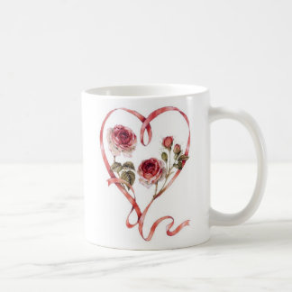 Valentine's Day Beautiful Poem Heart and Roses Mugs