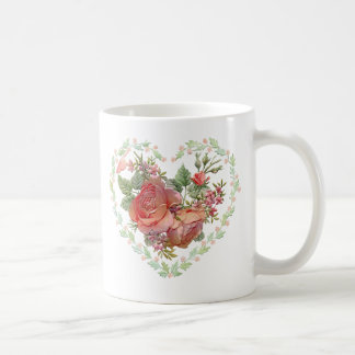 Valentine's Day Beautiful Poem Heart and Roses Coffee Mugs