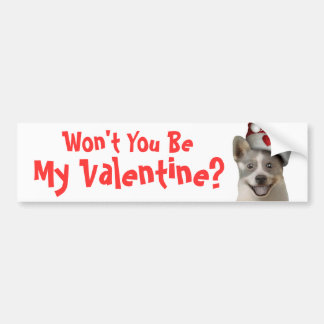 Valentines Day Begging Dog - Multiple Products Bumper Sticker