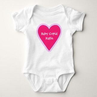 Valentines Day big pink heart Baby Bodysuit