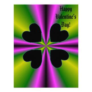 Valentine's Day - Black Heart on Rainbow Personalized Invitation