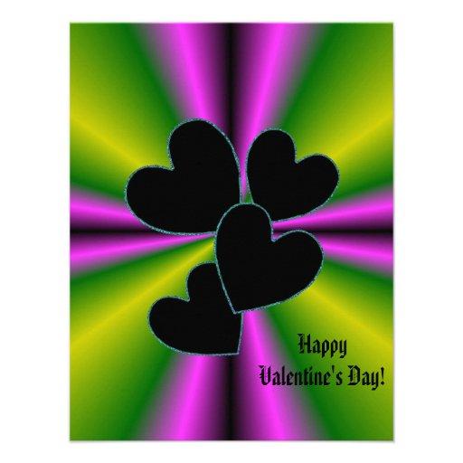 Valentine's Day - Black Heart on Rainbow Announcement