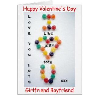 VALENTINE'S DAY BOYFRIEND GIRLFRIEND CARD LOVE YOU