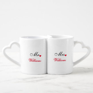Valentines Day Bride Groom Wedding Date Love Mugs