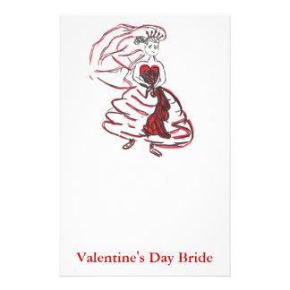 Valentine's Day Bride Stationery Paper