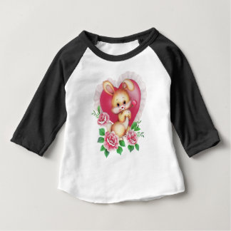 Valentine's Day Bunny With Roses T Shirt