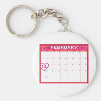 Valentines Day Calendar Keychains