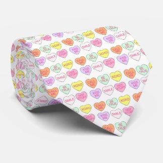Valentine's Day Candy Heart Hearts Valentine Tie