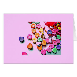 Valentine's Day Candy Hearts Greeting Card