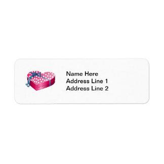 Valentine's Day Candy Return Address Label