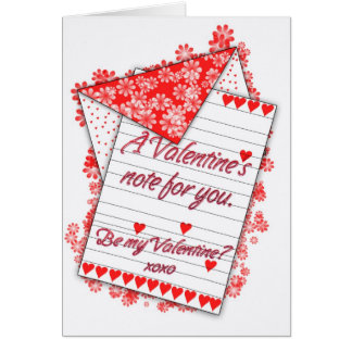 Valentine's Day Card, Be My Valentine? Card