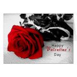 Valentine's Day Card - Black & White Rose
