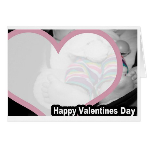 Valentines Day Card feet striped pants vday