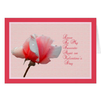 Valentine's Day Card for Aunt with Rose