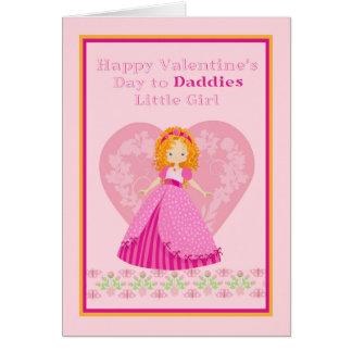 Valentine's Day Card for Daddies Little Girl