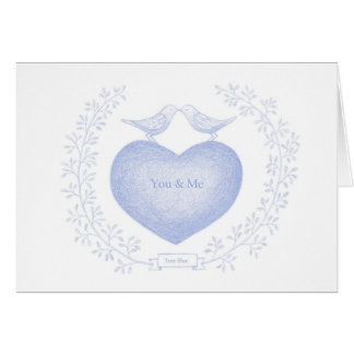 Valentine's day Card For Her True Love True Blue